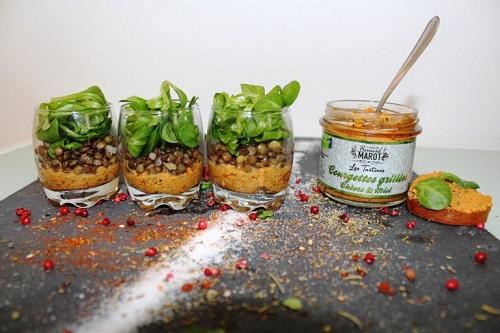 Read more about the article Verrines de courgettes aux lentilles